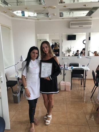 Обучение ногтей покрытие Наращивание рисунки диплом сертификат nails