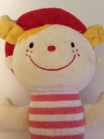 Погремушка пищалка прорезыватель Джулия K's Kids мягкая кукла грызунок