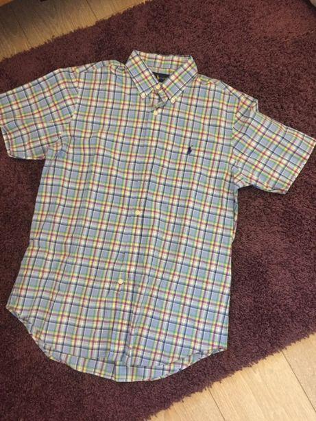 Рубашка с коротким рукавом клетка, в полоску Polo Ralph Lauren M L