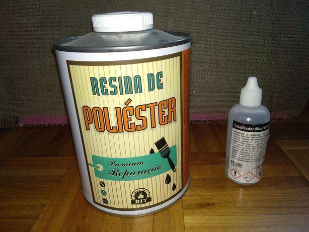 Resina de poliéster 1 KG + Catalisador  20 MG