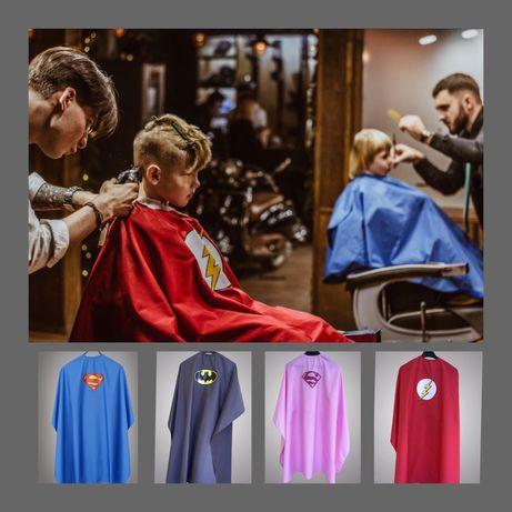 Детский парикмахерский пеньюар/ накидка для стрижки