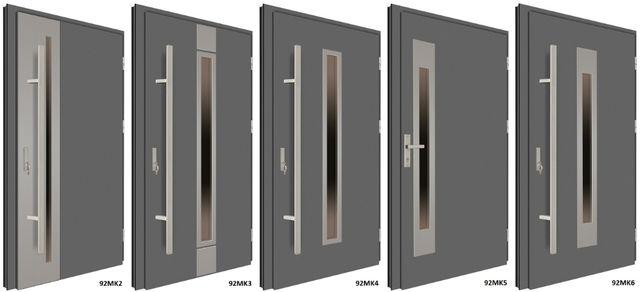 """Drzwi zewnętrzne stalowo-aluminiowe MK-DOOR 92MK2-92MK20 """"90"""" L/P NOWE"""