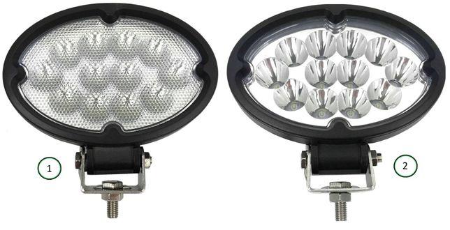 Lampa Robocza 12 LED owalna 12V 24V DALEKOSIĘŻNA