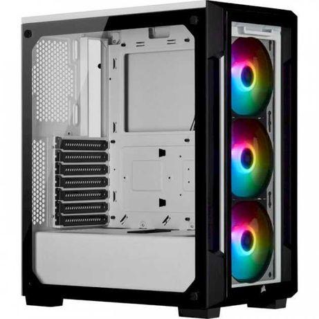 Корпус для Компьютера [iCUE 465X RGB формата Mid-Tower ATX — белый.]