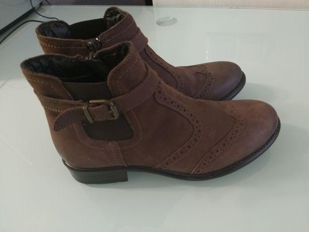 Кожаные ботиночки 34 р.