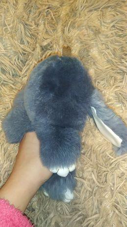кролик пушистик серый