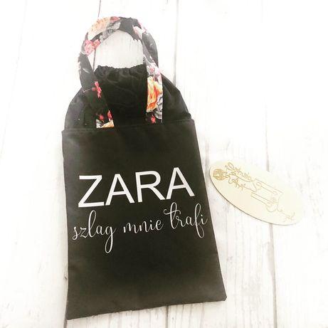 """Torba na ramie , shopperka - handmade"""" Zara szlag mnie trafi"""""""