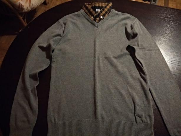 szary sweter z croppa - rozmiar s