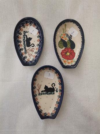 podstawka pod łyżke unikat Ceramika Bolesławiec