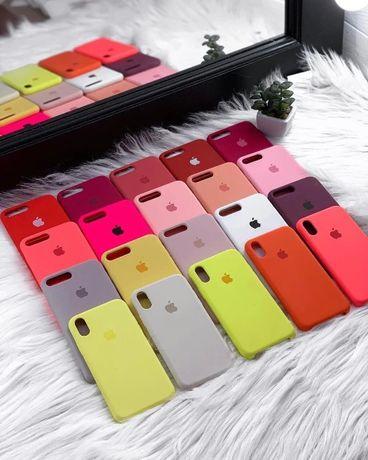 Чехол Silicone Case iphone•Apple айфон стекло 5 S XR MAX SE 6 + 11 pro