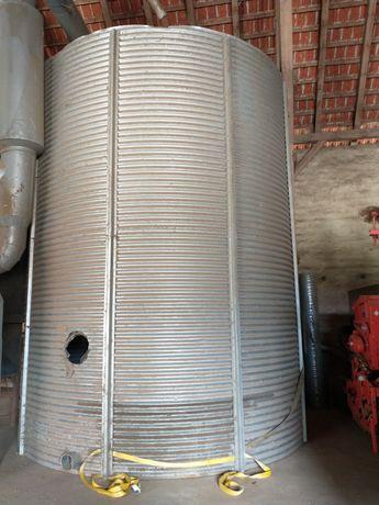 Silos zbożowy pelet bin zbiornik na zboże średnica 4m pojemność 42 Ton