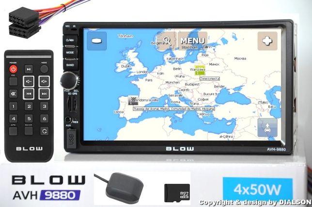 Nowe Radio Samochodowe BLOW Nawigacja MAPY EU PL 2DIN USB 7' AVH-9880