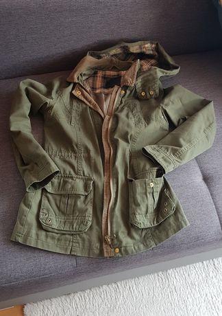 Parka khaki New Look UK kurtka wiosenna kurtka przejsciowa KHAKI