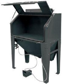 Tanque máquina decapagem peças c/420 lts, c/luz interior aspirador