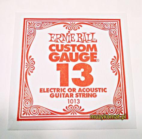 Pojedyncza struna ′13′ Ernie Ball 1013 do gitary akustycznej i elekt.