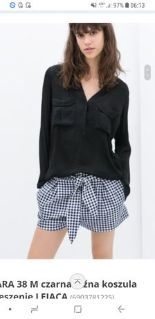 Zara Czarna Lejąca Koszula