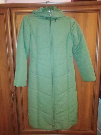 Reporter girl zone XS płaszczyk płaszcz zimowy dlugi maxi zielony
