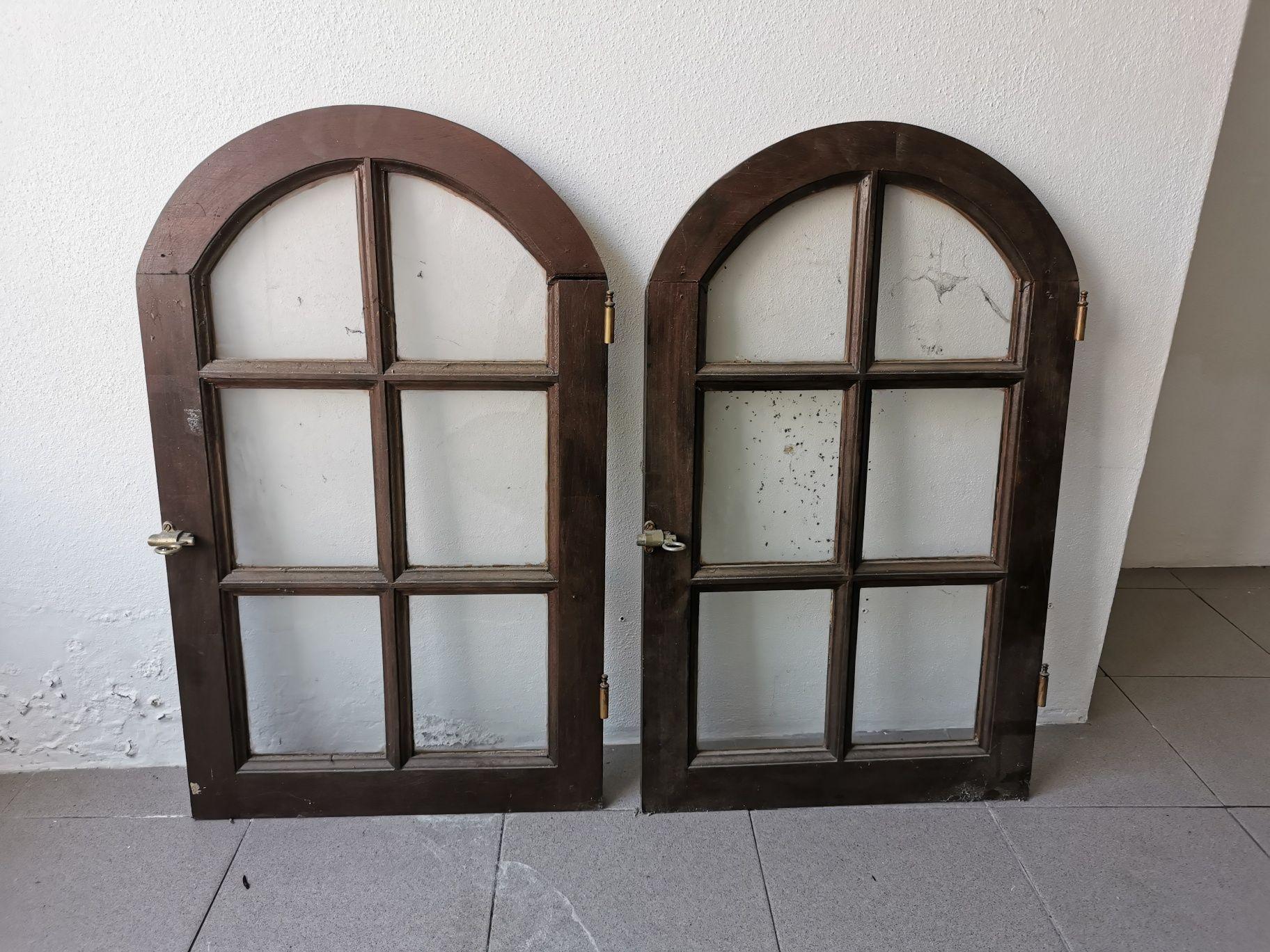 Janelo (2 unidades) madeira maciça