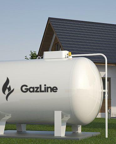 Zbiornik gaz propan, 2700, 4850, 6400. Montaż LPG dostawy gazu GAZLINE
