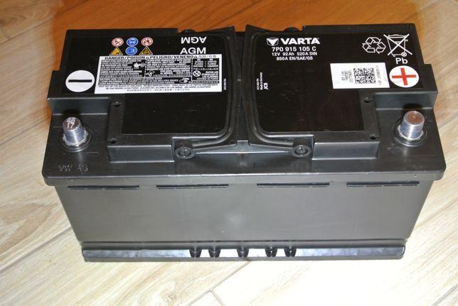 Akumulator VARTA AGM 92Ah 850A START STOP 7PO915105 C pierwszy montaż