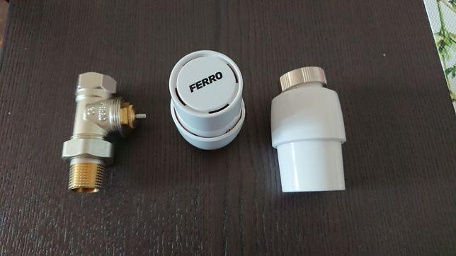 Zawór termostatyczny Ferro + głowica termostatyczna 1/2