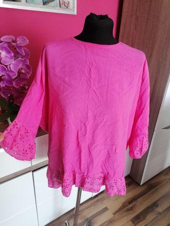 Różowa bluzka z koronką r xxxl (46)
