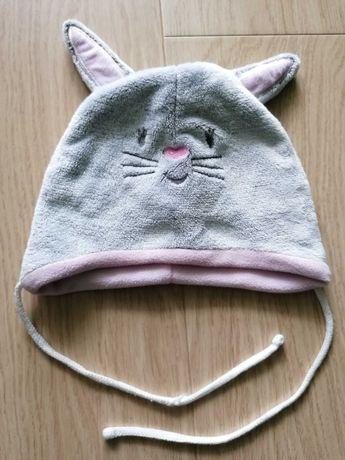 Polarowa czapka niemowlęca 44-46 cm