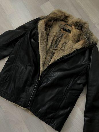 Мужская зимняя куртка , дубленка