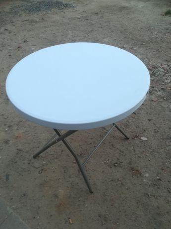 Stół cateringowy okrągły coctailowy