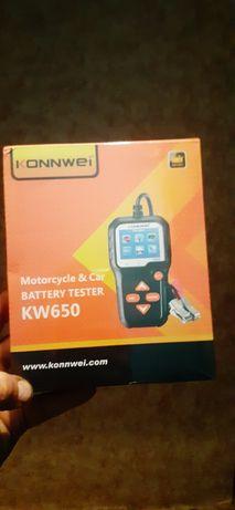 Тестер анализатор аккумулятора KONNWEI KW650 авто/мото