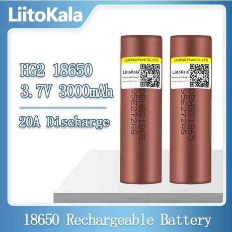 Аккумулятор Liitokala 18650 HG2 3000 мАч Li-ion ток до 30A