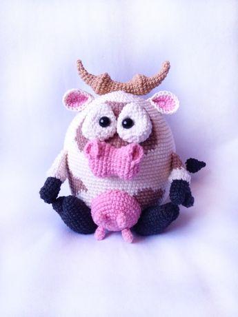Вязаная игрушка Корова
