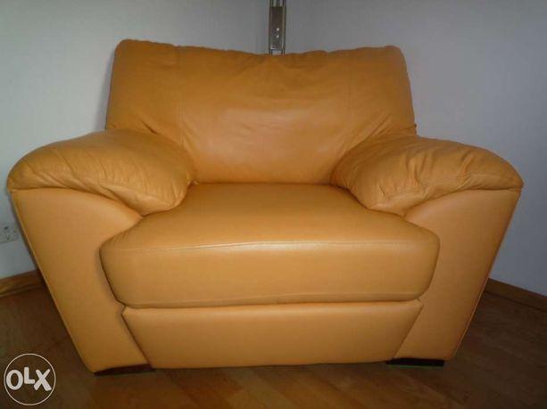 bardzo duży fotel skórzany Domo Faber