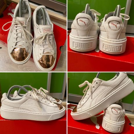 Кроссовки puma 37 кожа ботинки adidas кеды nike обувь хайтопы zara