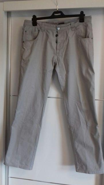 Popielate spodnie męskie Reserved 36/34 bawełna na lato nowe