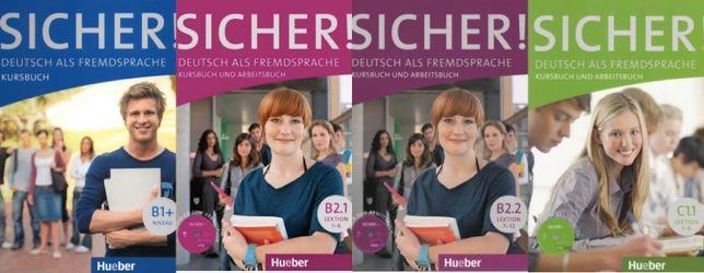 Комплект Sicher! Hueber Kursbuch + Arbeitsbuch B1+ B2.1 B2.2 C1.1