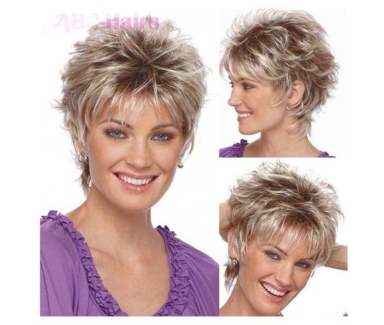 Абсолютно новый женский парик блонд, короткий боб, омбрэ