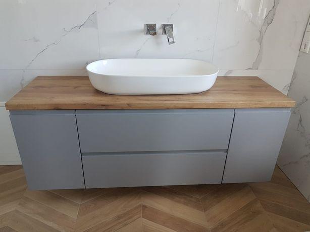Szafka pod umywalkę - laminowany blat - meble łazienkowe na wymiar