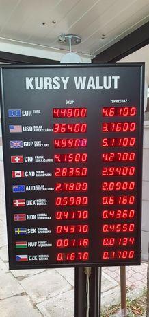 Tablica walut, wyświetlacz kantor wymiany walut