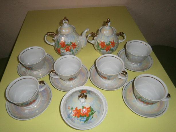 Чайный сервиз на 6 персон - фарфор Полонное