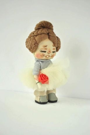 Маленькая кукла ручной работы Кармен Кукла для девочки из ткани