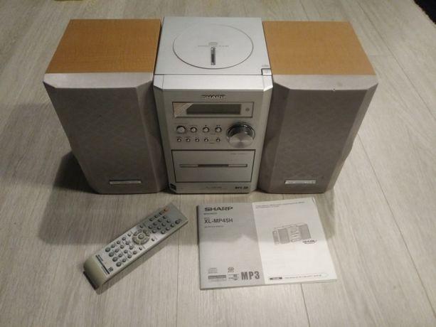 Wieża SHARP XL-MP45H: cd z mp3, kaseta, radio, aux