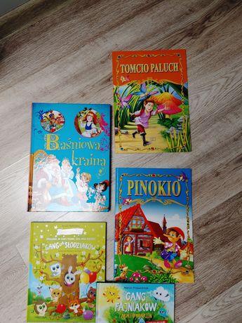 Zestaw książek Baśniowa kraina, Pinokio, Tomcio Paluch + gratis