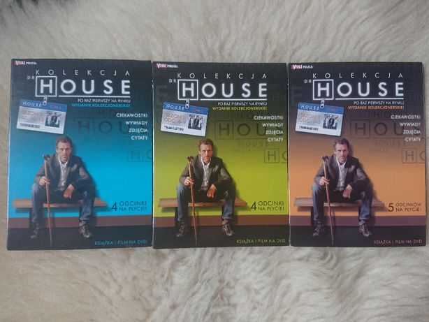kolekcja Dr House sezon I płyty DVD - książka i film odcinki 1-13