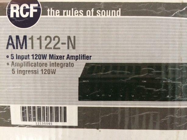 Amplificador RCF, 5 entradas 120w ideal som ambiente lojas- pouco uso
