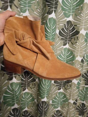 Черевики ботинки казаки сапоги замша