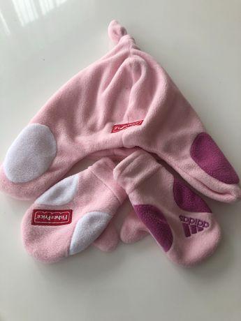 Czapka oraz rękawiczki dla niemowlaka