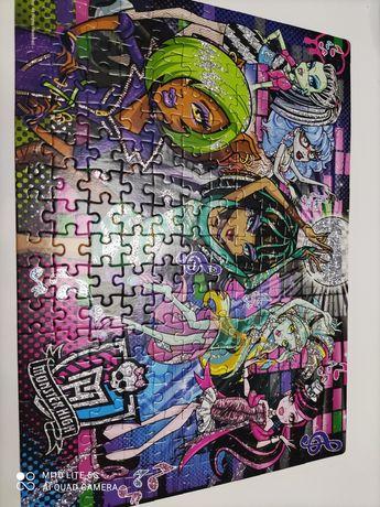 Super brokatowe puzzle monster high 200