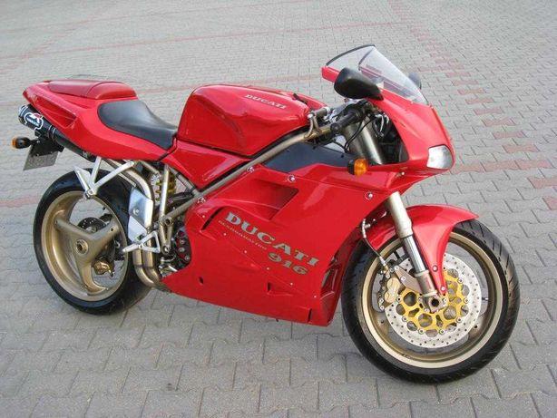 Motocykl Ducati 916, od 10 lat w garażu, 28000km.