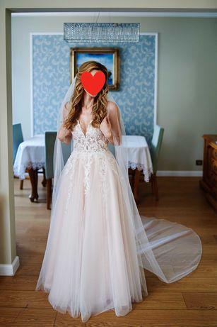Suknia ślubna Elisabeth Passion r.34 4806 + welon 2,5m